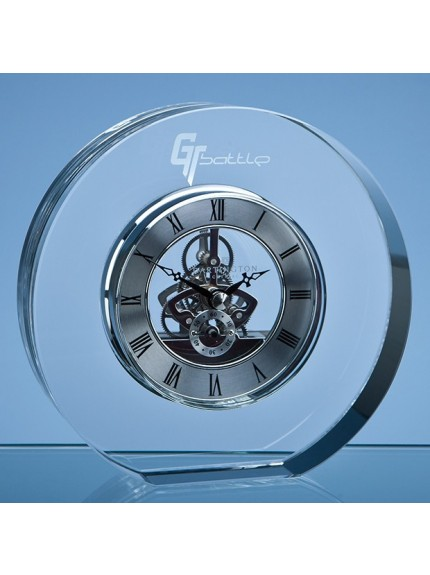 15cm Dartington Crystal Round Clock