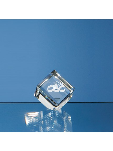 Optical Crystal Bevel Edged Cube