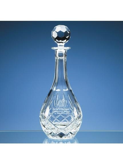 0.75ltr Blenheim Lead Crystal Panel Wine Decanter