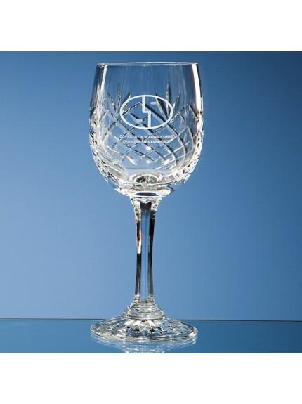 170ml Durham Lead Crystal Panel Red Wine Glass