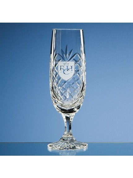 170ml Durham Lead Crystal Panel Champagne Flute