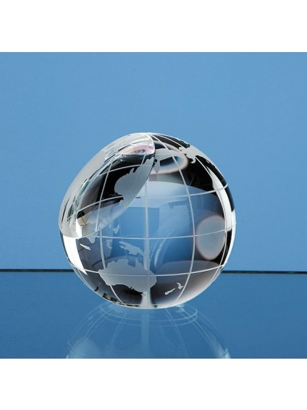 Optical Crystal Globe Paperweight