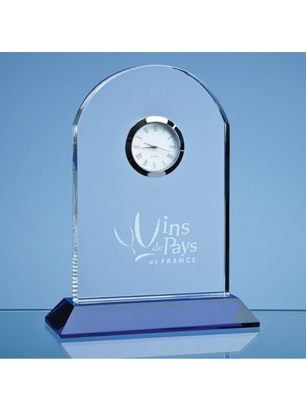 16cm Optical Crystal Mounted Arch Clock