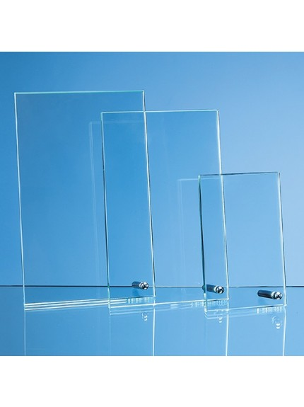 Jade Glass Rectangle with Chrome Pin