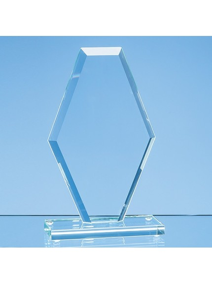 Jade Glass Facet Clipped Diamond Award