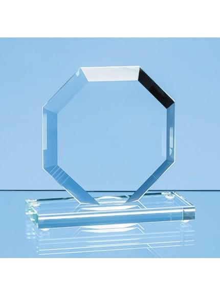 Jade Glass Facet Octagon Award