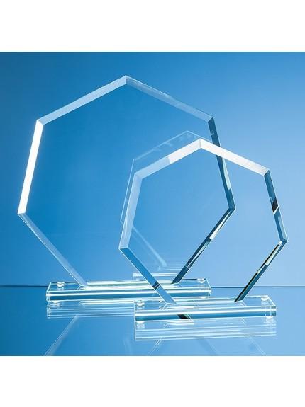 Jade Glass Facet Heptagon Award
