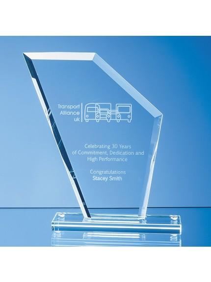 Jade Glass Facet Wing Award