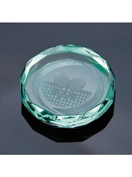 Jade Gaia Glass Paperweight Jade Award