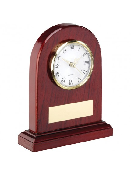 Arched Wooden Clock Trophy