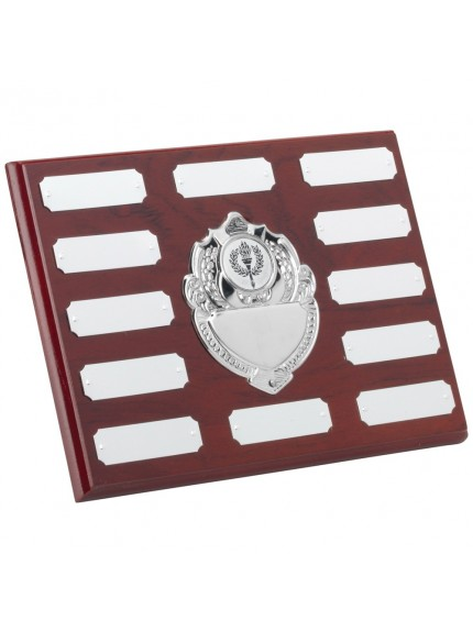 Rosewood Plaque With Chrome Fronts