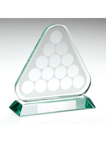 Stylish Jade Glass Pool and Snooker Award Supplied with Free Presentation Case - Available in 1 size only