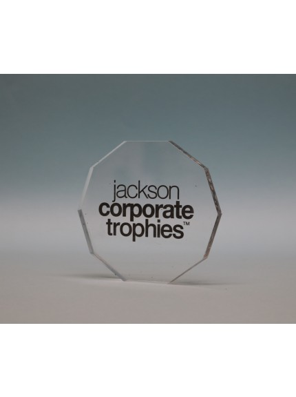 Freestanding Acrylic Decagon Award