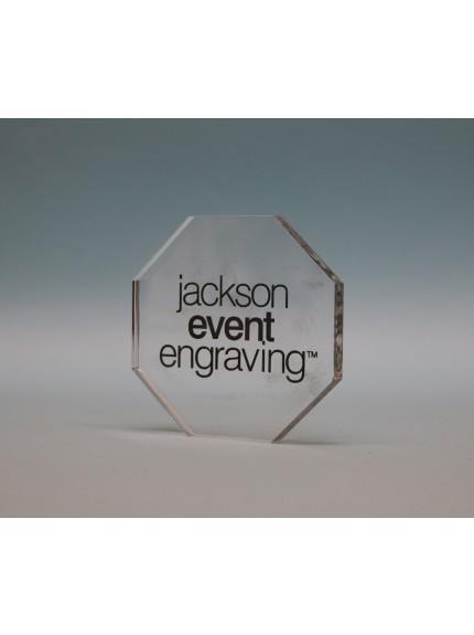 Freestanding Acrylic Octagon Award
