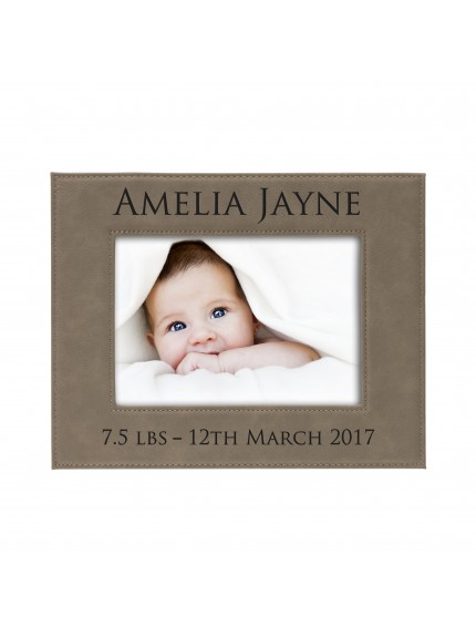 Leatherette Brown Photoframe