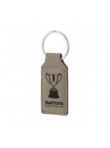 Leatherette Brown Key Ring