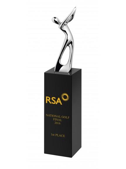 Blk Crystal and Metal Golfer Award