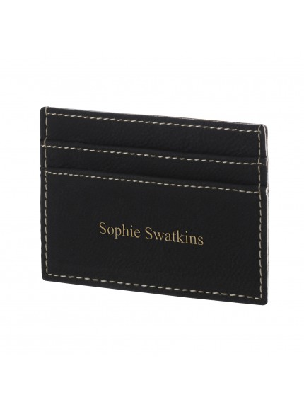 Leatherette Black Credit Card Holder