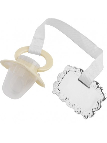 Childs Pacifier and engravable clip