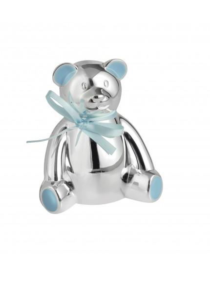 Teddy Bear Money Box Blue Bow