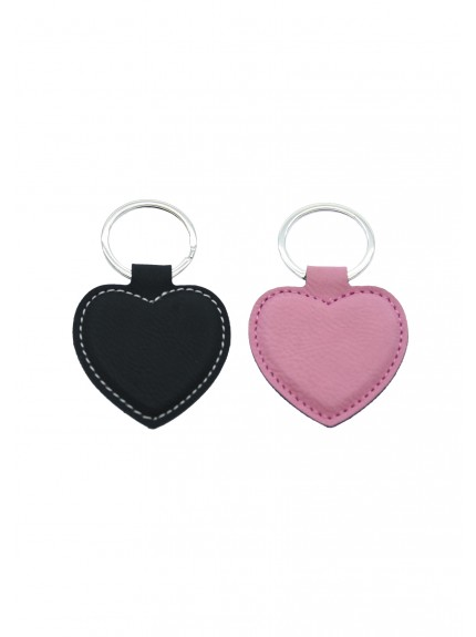 LZS Black with Silver Heart Keyring