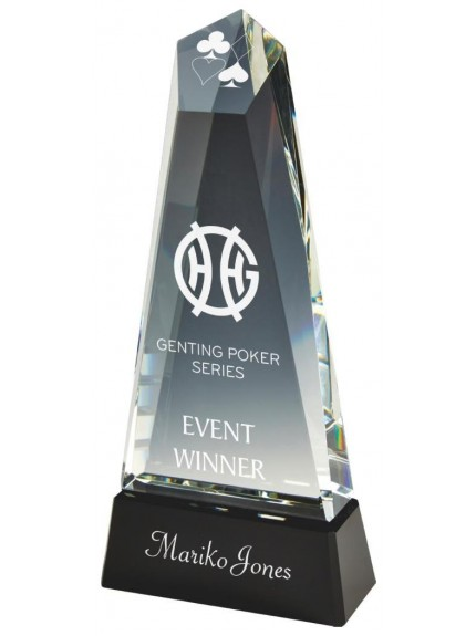 30.5cm Heavy Crystal Tower Award