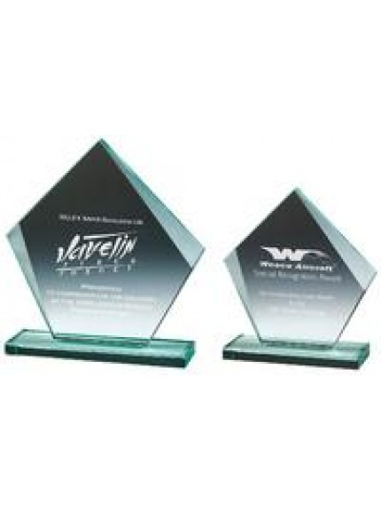 Jade Glass Pentagon Award - 2 Sizes