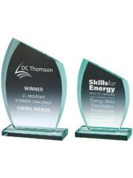 Jade Glass 'Slice' Award - 2 Sizes